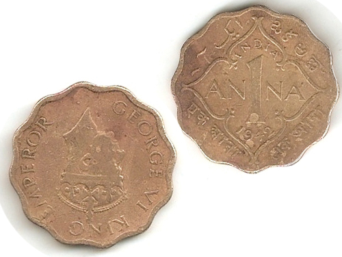 George VI King Emperor 1Anna Coin
