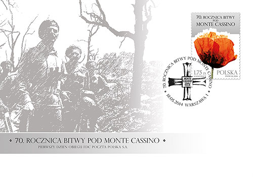 FDC - 70th Anniversary of the Monte Cassino Battle