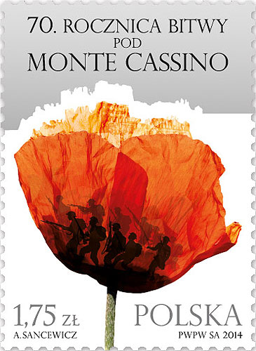Stamp - 70th Anniversary of the Monte Cassino Battle