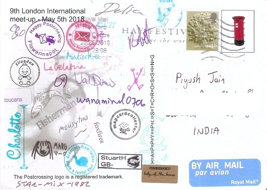 9th International London Postcrossing Meetup