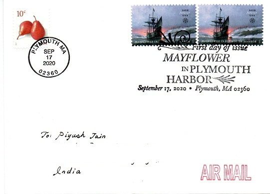 FDC - Mayflower in Plymouth Harbor