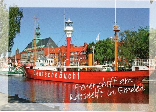 Feuerschiff am Ratsdelft in Emden